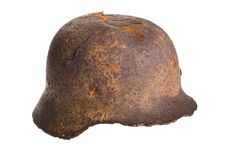 Old German Helmet World War . Stock Photo