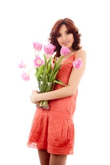 Free Girl With Flower Stock Image - 14092381