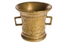 Old Antique Vintage Metal Brass, Jar.