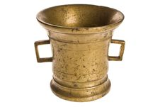 Old Antique Vintage Metal Brass, Jar. Stock Photos