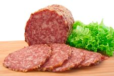 Slices Of Salami Stock Photography