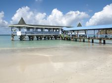 Free Pier Caribbean Sea Royalty Free Stock Image - 14093226
