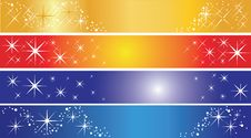Free Set Of 4 Holiday Banners Stock Image - 14093301