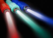 Free Cables With Light Beams Royalty Free Stock Photos - 14093468
