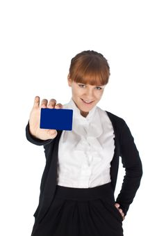 Girl With Blank Card
