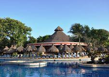 Resort Swimming Pool. Royalty Free Stock Images