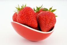 Bucket Strawberries Royalty Free Stock Photo