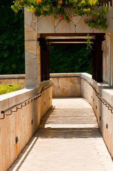 Garden Downhill Walkway Stock Images