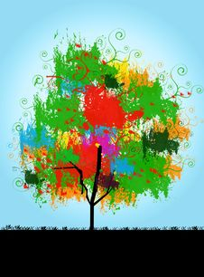 Free Picture Of Tree With Colorful Leaves Royalty Free Stock Photo - 14094565