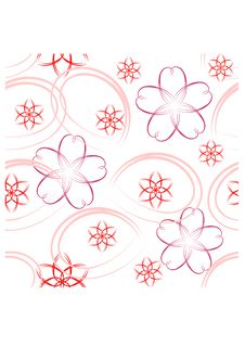 Free Colorful Seamless Pattern - Pink Flowers Stock Image - 14095561