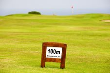 Free Fairway Marker Stock Photos - 14095693