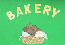 Free Home Made Bakery Sign Stock Image - 14095921