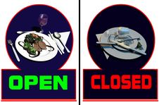 Free Restaurant Open-closed Stock Image - 14095931
