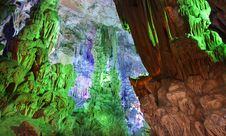 Reed Flute Cave Guilin Guangxi China Stock Photos