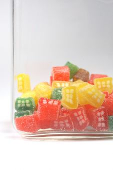 Delicious Sweet Candies In Sugar Stock Photography