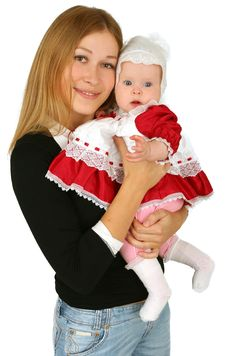 Free Young  Mother With Baby Girl Stock Photography - 14097602