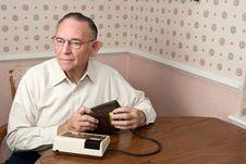 Free Mature Man Taking Blood Pressure Stock Images - 14097914