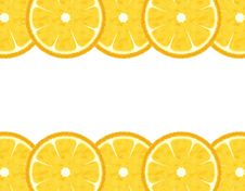 Free Slice Lemon Border Stock Images - 14098184