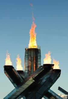 Free Olympic Flame, 2010 Vancouver Stock Photography - 14098222
