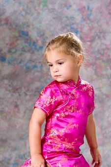 Free Portrait Of Pretty Little Girl Royalty Free Stock Image - 14098226