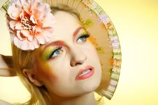 Summer Fashion Creative Eye Make-up Royalty Free Stock Photo