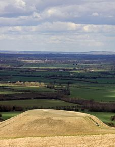 Dragon Hill Near White Horse Hill Stock Photos
