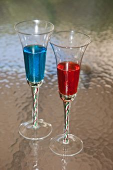 Free Red And Blue Beverages Stock Photos - 14099043