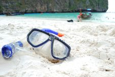 Free Snorkel At Maya Beach Royalty Free Stock Image - 14099086