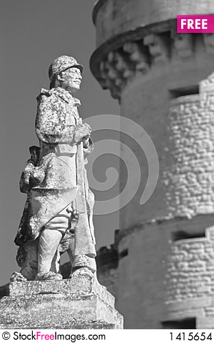 Gordes guard Stock Photo