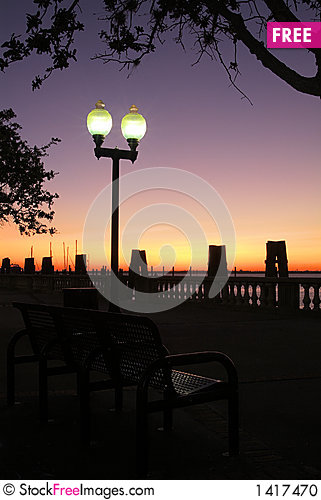 Free Pier Park Sunset Stock Photo - 1417470