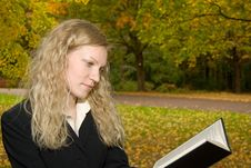 Free Women Reading In The Park. Stock Image - 1410381