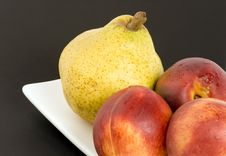 Free Pear And Nectarines Royalty Free Stock Photo - 1410575