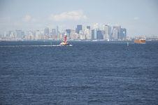 Skyline Of Manhattan, New York From Staten Island Royalty Free Stock Photos
