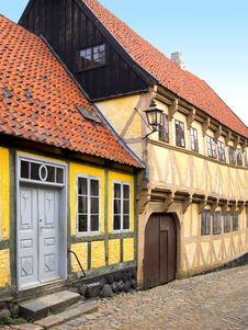 Free Old Danish Houses Stock Photo - 1412640