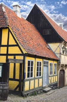 Free Old Danish Houses Stock Images - 1412644