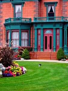 Free The Deveraux Mansion/Heritage Gardens, Salt Lake City Royalty Free Stock Photography - 1412687