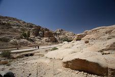 Free Outerworldly Scene Of Petra, Jordan Stock Photos - 1414243