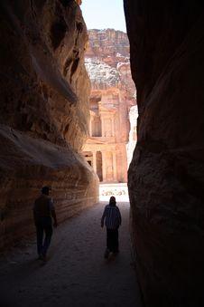 Free Outerworldly Scene Of Petra, Jordan Royalty Free Stock Image - 1414306