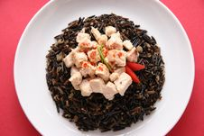Free Black Rice And Chicken. Stock Photography - 1415092