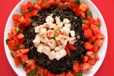 Free Black Rice And Chicken. Royalty Free Stock Images - 1415129
