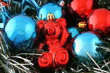 Free Bear Christmas Decorations Stock Photography - 1416382