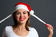 Free Santa Girl Laugh Stock Image - 1417091