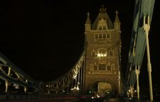 Free Night Traffic On Tower Bridge Stock Photography - 1417102