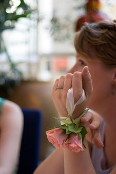 Free Bride And Flowers Royalty Free Stock Images - 1417609