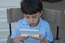 Game Playing Boy Royalty Free Stock Photos