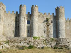 Free Obidos Castle Royalty Free Stock Photography - 1418297
