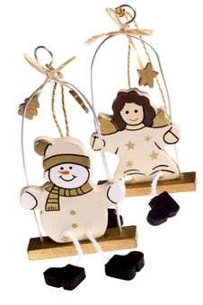 Free Christmas Toys. Snowman And Angel Stock Photos - 1418383