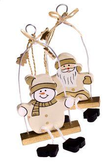 Free Christmas Toys. Snowman And Santa Claus Stock Photos - 1418393