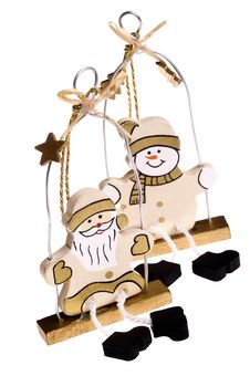 Free Christmas Toys. Snowman And Santa Claus Stock Photos - 1418433
