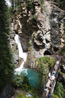 Free Banff Waterfall Royalty Free Stock Photos - 1418528